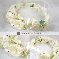 DearBouquetのオリジナルヘッドドレス(花冠)です。品質の高いアーティフィシャルフラワーを用...