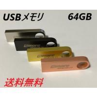 USBメモリ 64GB 全4色カラー USB2.0対応 小型 防水 耐衝撃 ポイント消化 プレゼント