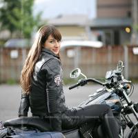 レザージャケット レディース バイク 本革 DG16WJ-6 ブラック