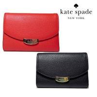 人気のNYのブランドKate spade アウトレット商品 牛革の2つ折り財布 ■仕様外側:フリーポ...