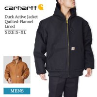 CARHARTT d メンズ ダックアクティブ ジャケットカーハート J140 Men's Duck Active Jacket Quilted-Flannel Line
