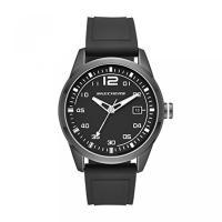 スケッチャーズ スニーカー トレーニング シューズ スリッポン フィットネスSkechers Men's Quartz Metal and Silicone Casual Watch, Color:Black (Model: