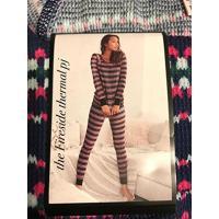 ヴィクトリアズシークレット パジャマ 部屋着 ワンピース ルームウェア Victoria's Secret Fireside Long Jane Thermal Pajama Set PJ Navy Blue / Pink