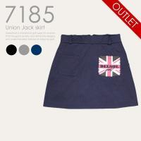 小技が効いた辛口スカート!!  人気のユニオンジャックデザインが今度はポケットに♪ 左右とヒップに計...