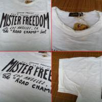 Mister Freedom シュガーケーン ミスターフリーダム MFSC 米国製 半袖Tシャツ『MISTER FREEDOM LA CA』 SC76943-101/WHITE