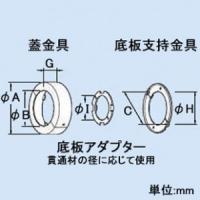 因幡電工 耐火ユニットC 壁両側施工用 冷凍・排水用 適合ボイド管呼び径150mm ファイヤープロシリーズ IRU-150CK