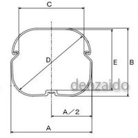 バクマ工業 ケース販売 5本セット エアコン配管化粧カバー 7型 アイボリー スマートダクト ADシリーズ AD-7-I_set