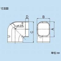 因幡電工 ケース販売 10個セット スリムダクトLD コーナー平面90° 曲り 70タイプ グレー LDK-70-G_set