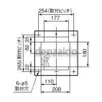 パナソニック フリーボックス BQCタイプ 露出・半埋込両用形 2コ用 H325×W314×D97 BQC825W|dendenichiba|05