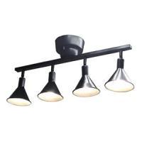 ドウシシャ LEDシーリングスポットライト 未使用品 〜6畳用 LED電球×4灯 海外並行輸入正規品 調光タイプ 口金E17 ブラック TN-CLAL-BK 電球色 リモコン付