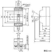 パナソニック 安全ブレーカ 電灯・分岐用 HB-2E型 2P2E 20A BS2022|dendenichiba|02