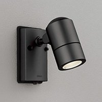 オーデリック LEDスポットライト 防雨型 白熱灯50W相当 黒色サテン 電球色 新生活 OG254567LD 人感センサ付 直営店