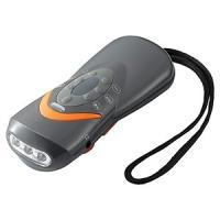 ヤザワ 手回し充電ラジオライト 白色LED×3灯 USB充電対応 AM/FMラジオ・緊急ブザー付 BS801GY dendenichiba