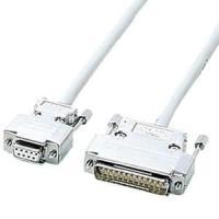 サンワサプライ RS-232Cケーブル クロス系結線 D-sub9pinメス-D-sub25pinオス 1.5m KRS-423XF1K