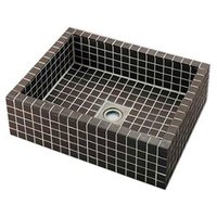 カクダイ 角型洗面器 響 置型タイプ 国内8 チープ グレーブラウン 493-143-GB 排水 実物