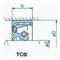 NOK オイルシール TC40588T (AE2369A1) TC型|dendouki2