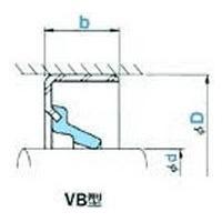NOK オイルシール VB7166 (AF0082E2) VB型|dendouki2