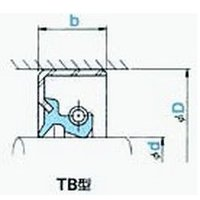NOK オイルシール TB40588F (AD2369A5) TB型 dendouki