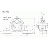 NTN 鋳鉄製ピロー形ユニット UCP204D1 給油式 dendouki 02