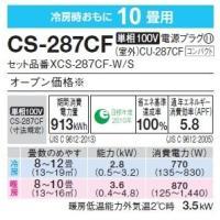 ルームエアコン CS-287CF-W(2017年度モデル)|denkishoptora|02