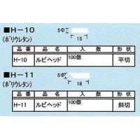 下記の2種類からお選びください H-10(ヘッド/平切) H-11(ヘッド/斜切)