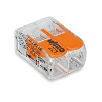 ワゴジャパン ワンタッチコネクター WFR-2BP (1パック10個入) 電線数:2本  定格32A...