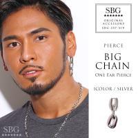 人気ブランドSBG(エスビージー)ビッグチェーンドロップピアス片耳。きれいめファッション、ストリート...