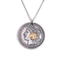 人気ブランドSBG(エスビージー)コインネックレス。コインの中心のゴールドスターは胸元を印象強く飾り...