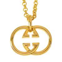 人気ブランドSBG(エスビージー)24KGPゴールドダブルロゴネックレス。きれいめファッション、スト...