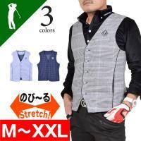 4CC×COMONGOLFコラボストレッチゴルフベスト  ●ポロシャツの上に着るだけでおしゃれ度数段...