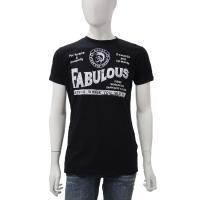 ディーゼル【DIESEL】Tシャツ/半袖/丸首 【カラー】ブラック  【素材】コットン:100%  ...