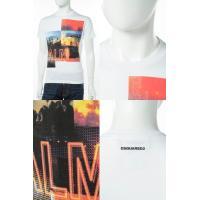 2017年春夏新作 ディースクエアード DSQUARED2 Tシャツ 半袖 丸首 メンズ S74GD0222S22844 ホワイト 2017SS_SALE
