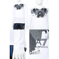 アルマーニ エンポリオアルマーニ Emporio Armani EA7 ロングTシャツ ロンT 長袖 丸首 メンズ 6YPTA5 PJ03Z ホワイト
