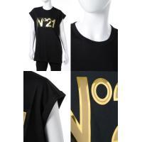 ヌメロヴェントゥーノ N°21 Tシャツ 半袖 丸首 レディース F021 4157 ブラック