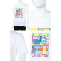 ヴァレンティノ Valentino Tシャツ 半袖 丸首 メンズ PV3MG10U3LE ホワイト 2018年春夏新作