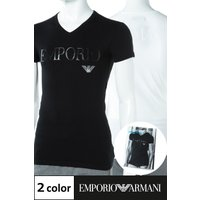 アルマーニ エンポリオアルマーニ Emporio Armani Tシャツアンダーウェア Tシャツ 半袖 Vネックメンズ 110810 CC716 ブラック ホワイト