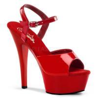 取寄せ靴 新品 衣装靴 ベルト付き 大人気厚底サンダル 15cmピンヒール 赤レッドエナメル Ple...