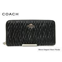コーチ 財布 さいふ COACH ツイスト レザー アコーディオン ジップアラウンド 長財布 F54003 IMBLK ブラック