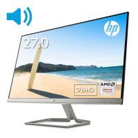 【IPSパネル】HP 27fw 27インチ ディスプレイ(ホワイト・Audio)(型番:4TB31AA#ABJ)(1920x1080/1677万色)マイクロエッジ スピーカー内蔵 モニター 新品