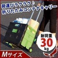 荷物を運ぶのに大変便利なコンテナキャリー。 普段はコンパクトにたたんでおいて、使う時にはパコッとはめ...