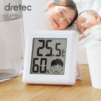 熱中症対策に! ・デジタル式で温度と湿度を表示します ・温湿度の状態を顔の表情で表示 ・スタンド付 ...