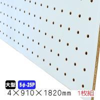 有孔ボード/穴あきベニヤ 薄水色 (4mm 5φ-25P)910mm×1830mm DIY 有孔合板...