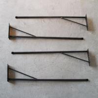DIY FACTORY アイアン脚 スクリューオンタイプ 黒 脚の長さ700mm FL-01 テーブル脚 パーツ 4本|diy-tool