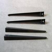 DIY FACTORY テーブル用アイアン脚クランプタイプ(4本セット) 黒 脚の長さ710mm テーブル脚 パーツ|diy-tool