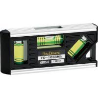 エビス 設備レベル(ミニレベル・ミニ水平器) ブラック  ED-10SBMB|diy-tool