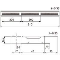 タイプ 軒先タイプ 材質 ガルバリウム鋼板(高耐食仕様) (厚さ:0.35mm) 有効換気面積 (c...