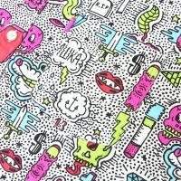 MISHKA ミシカ シャツ メンズ 春 夏 半袖 カジュアル おしゃれ ブランド ポップ 総柄 大きいサイズ 父の日