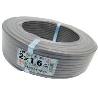 電線 VVFケーブル 1.6mm2芯【001】 灰色 VVF1.6×2C×100m