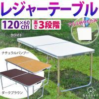 120cm幅のアルミ製レジャーテーブル。  折りたたみ式で持ち運びラクラク。  キャンプやバーベキュ...