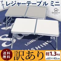 ●●●訳アリ アルミ レジャーテーブル ミニ 幅60cm 折りたたみ 軽量 アウトドア テーブル ピクニックテーブル キャンプ キャンプ用 軽い